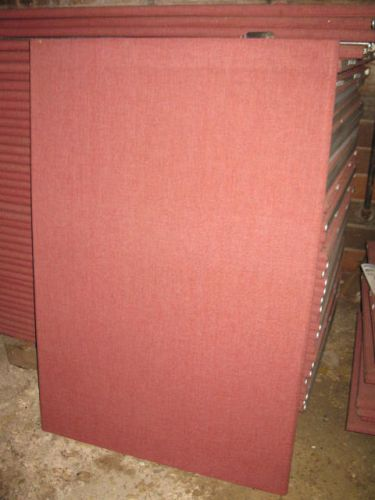 "Knoll Burgundy Colored 55"" Tall Panels - Used"