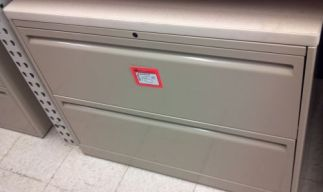 "2-Drawer 36"" Wide Haworth Lateral Files w/ Top - Used"
