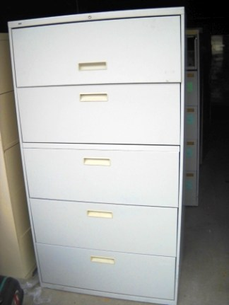 "5-Drawer Hon 36"" Wide Lateral File - Used"