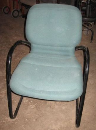 Steelcase Green Sled-Base Chairs - Used