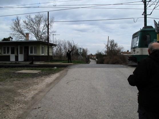 handbetriebener Bahnübergang