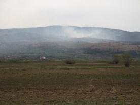 Osterfeuer auf der rumänischen Seite. - etwas ausgeufert?