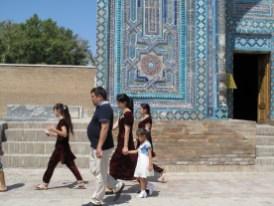 usbekische Touristen