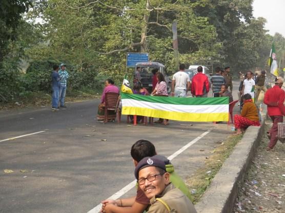 Streik mit Straßenblockade