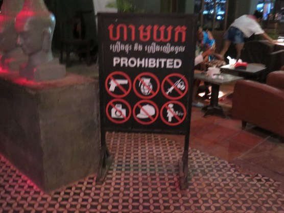 Was hier so alles verboten ist ...