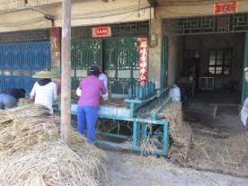 Reisstrohmatten-Produktion
