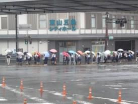 Die Wanderung der Regenschirme