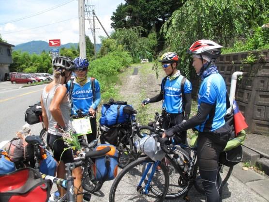 drei Radlerjungs aus Taiwan