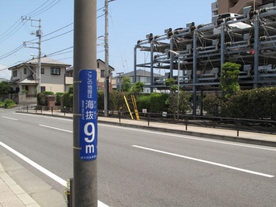 Man beachte die 9m Marke. Wichtig wegen Tsunami.