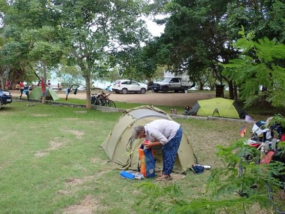 Zelten an der Lagune