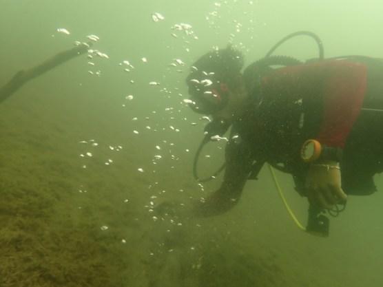 Blasen aus dem Seeboden