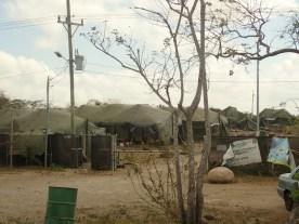 Flüchtlingslager für Nicaraguaner, inzwischen wieder verlassen.
