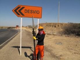 Straßenarbeiterin