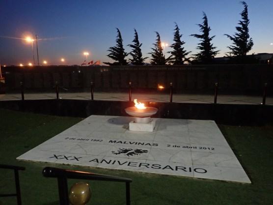 Flamme für die Falkland-Gefallenen
