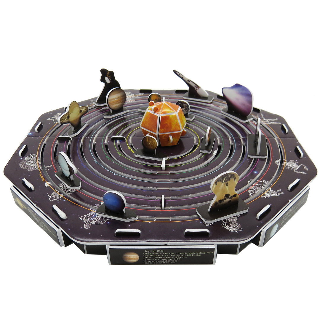 Physical 3d Puzzle Solar System Amp Planets Space Flight Sun