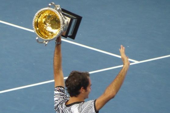 AUSopen-Federer-Pokal-Jubel