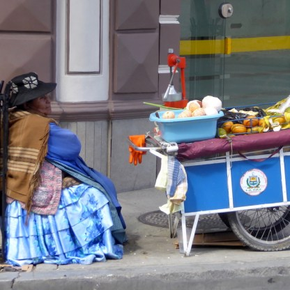 Bolivien-LaPaz-Strassenverkauf