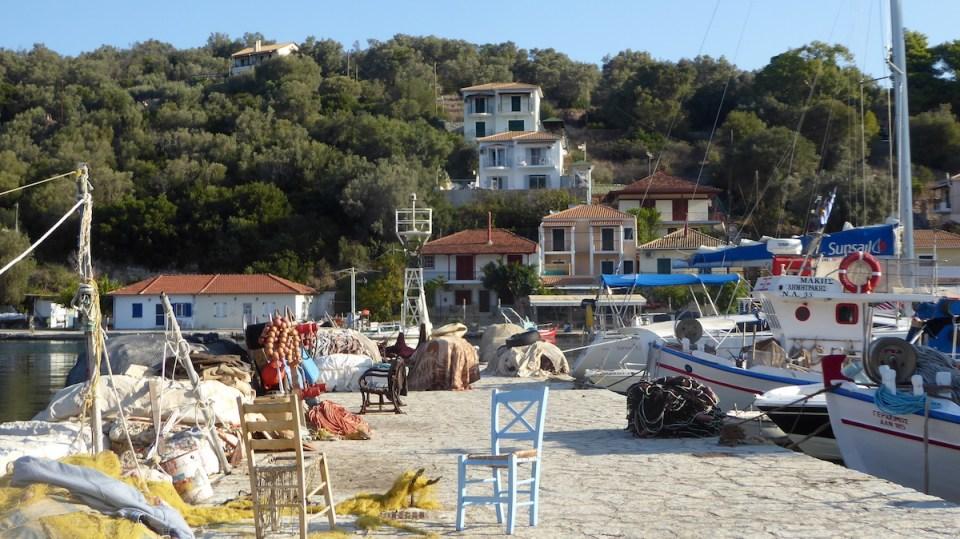 19 Monate auf Weltreise: Hafen in Vathy