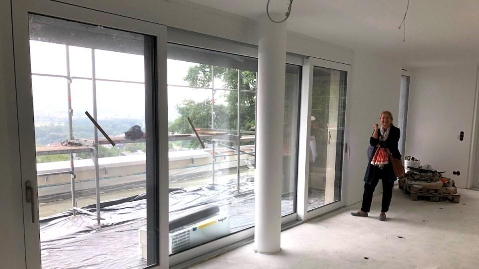 Im Rohbau: Diese Wohnung in Berg bei Ravensburg wird unser neues Zuhause sein.