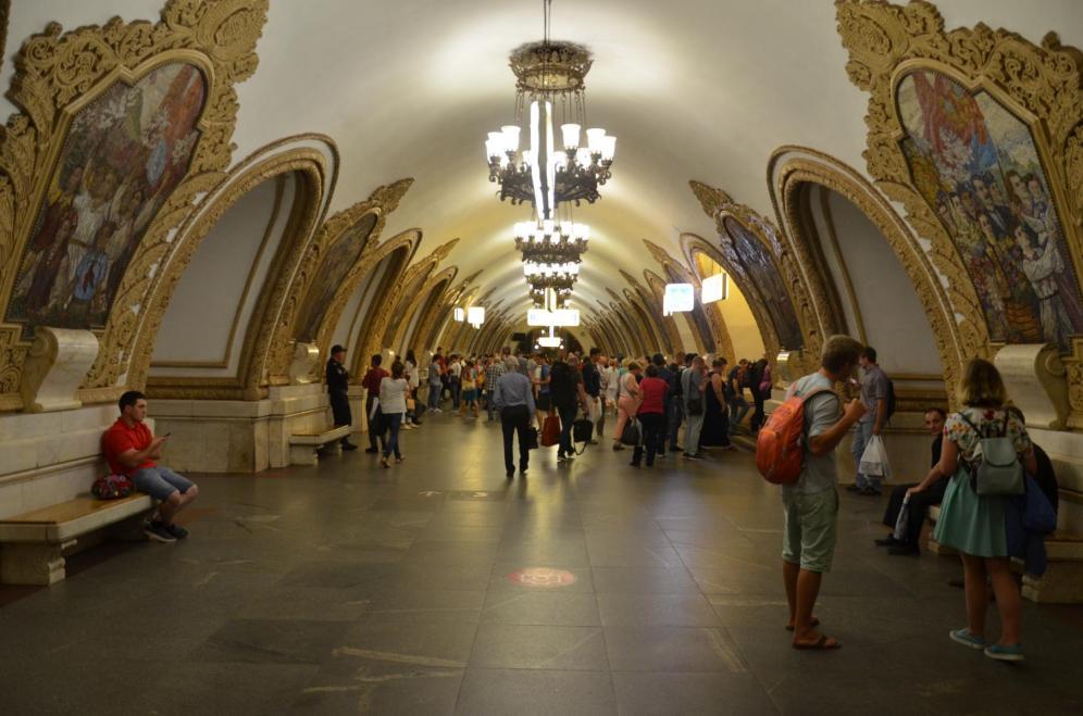 Die Moskauermetro ist beindruckend