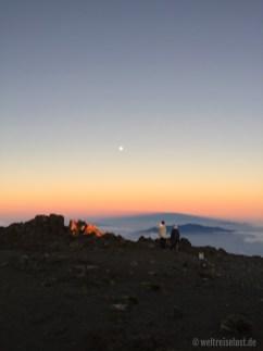Der Mond am Haleakela