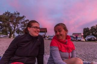 Pinke Sonnenuntergangsstimmung mit Isa