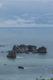Grau und zerklüftet zeigte sich und die Westküste der Südinsel bei Haast