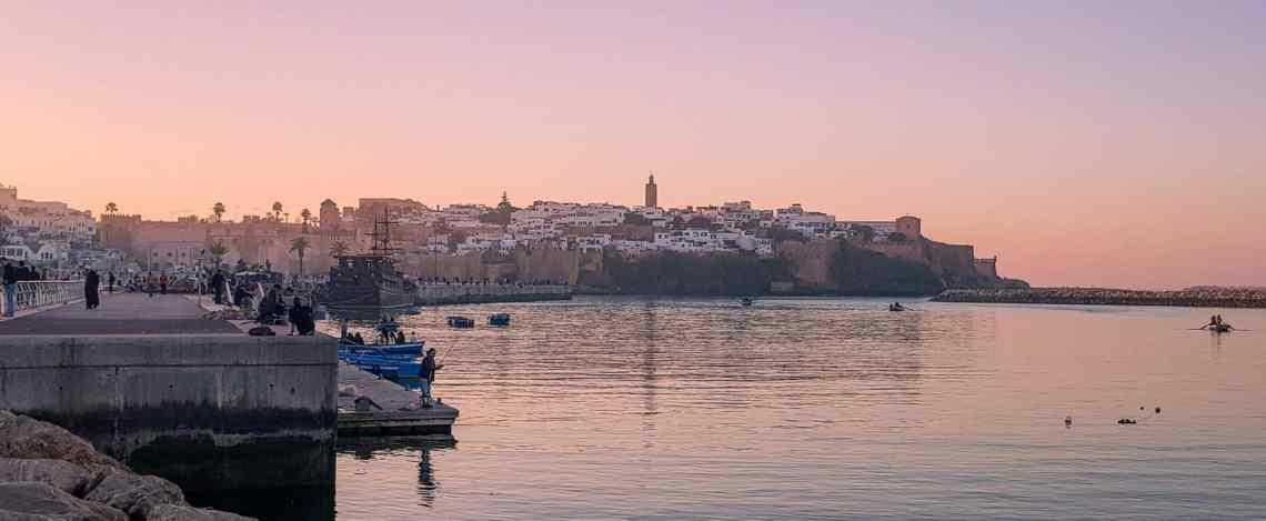 Sonnenuntergang über der Altstadt von Rabat