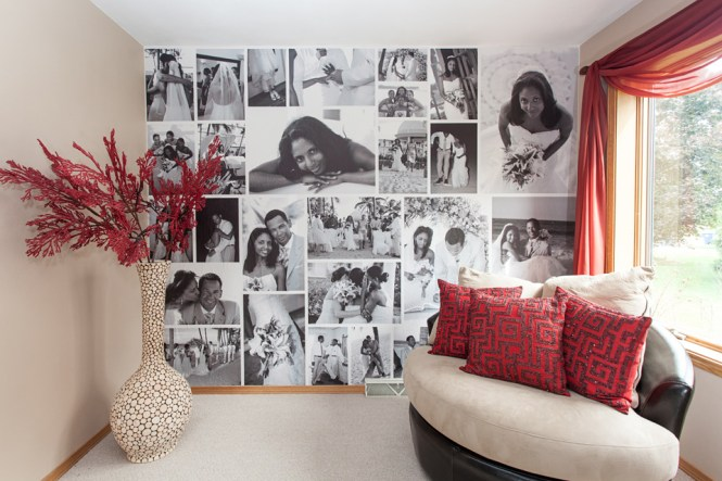 Photo Frame Wall Decor For Home Decorative Black Picture Frames Baby Photos Creative
