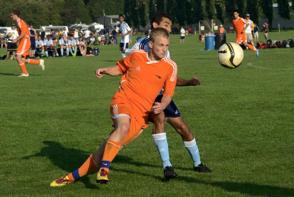 Elijah Hurt playing for Wenatchee Fire FC youth (now Wenatchee FC.)