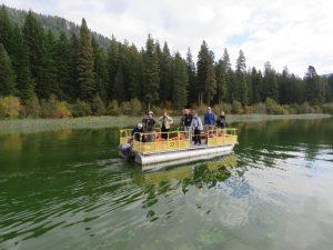 Using a boat, Upper Basin Birders survey Fish Lake, April-November.