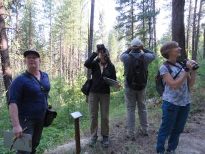 CDLT Volunteers at Mountain Home Preserve conductiong an eBird project