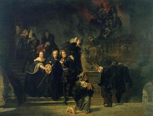 Slottsbranden_i_Stockholm_den_7_maj_1697_(1866)