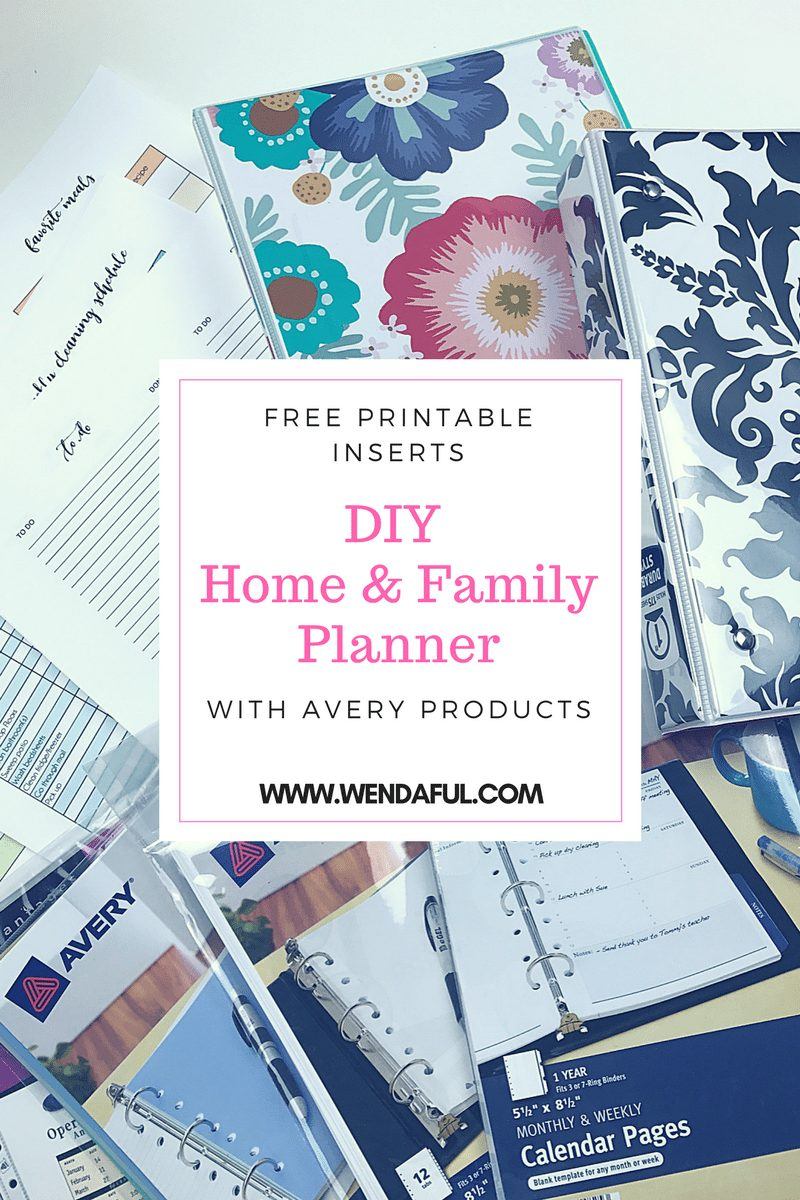 Calendar Planner Diy : Diy home family planner with avery products wendaful