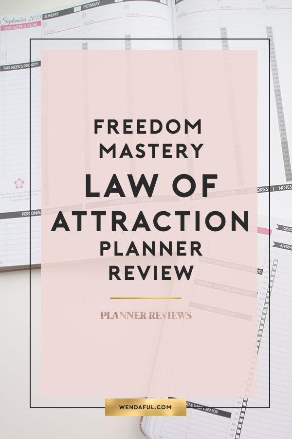 Law Of Attraction Planner Review Wendaful - Productivity planner review
