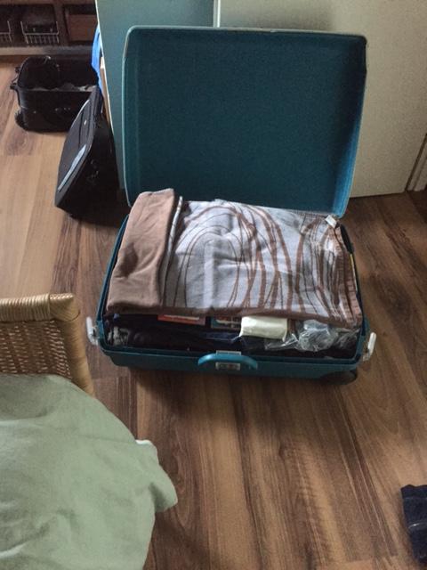 In de koffer