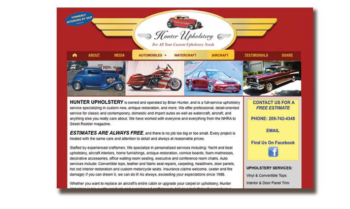 Hunter Upholstery Website