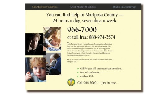 "Mariposa County Social Services ""Just In Case"" Website"
