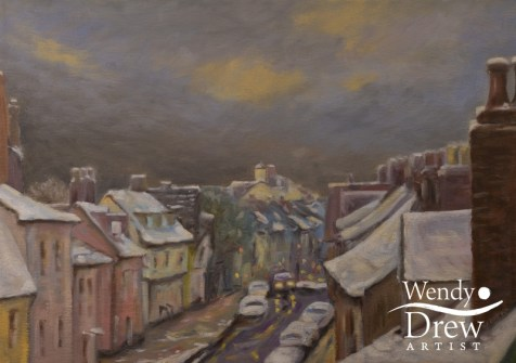 Whiting Street and the Cupola in Winter, Bury St Edmunds