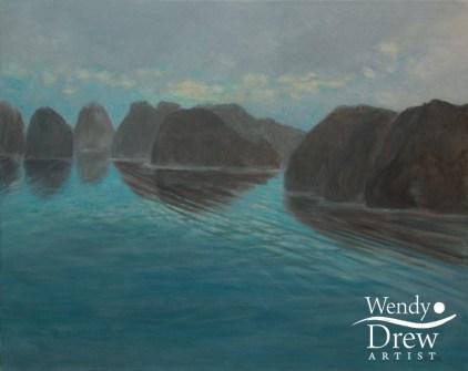 Turquoise mist Halong Bay