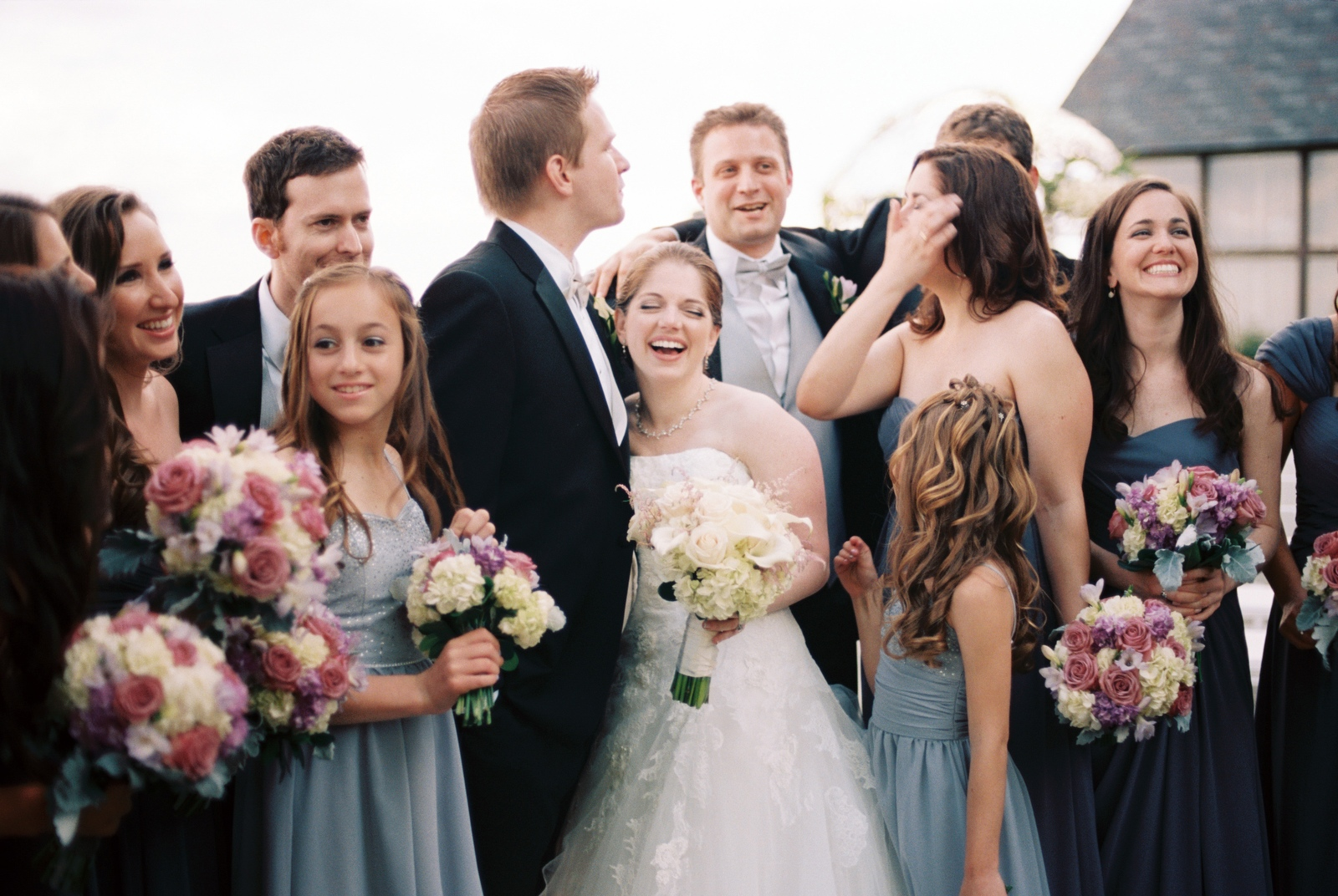 mamaroneck beach yacht club wedding party by wendy g photography