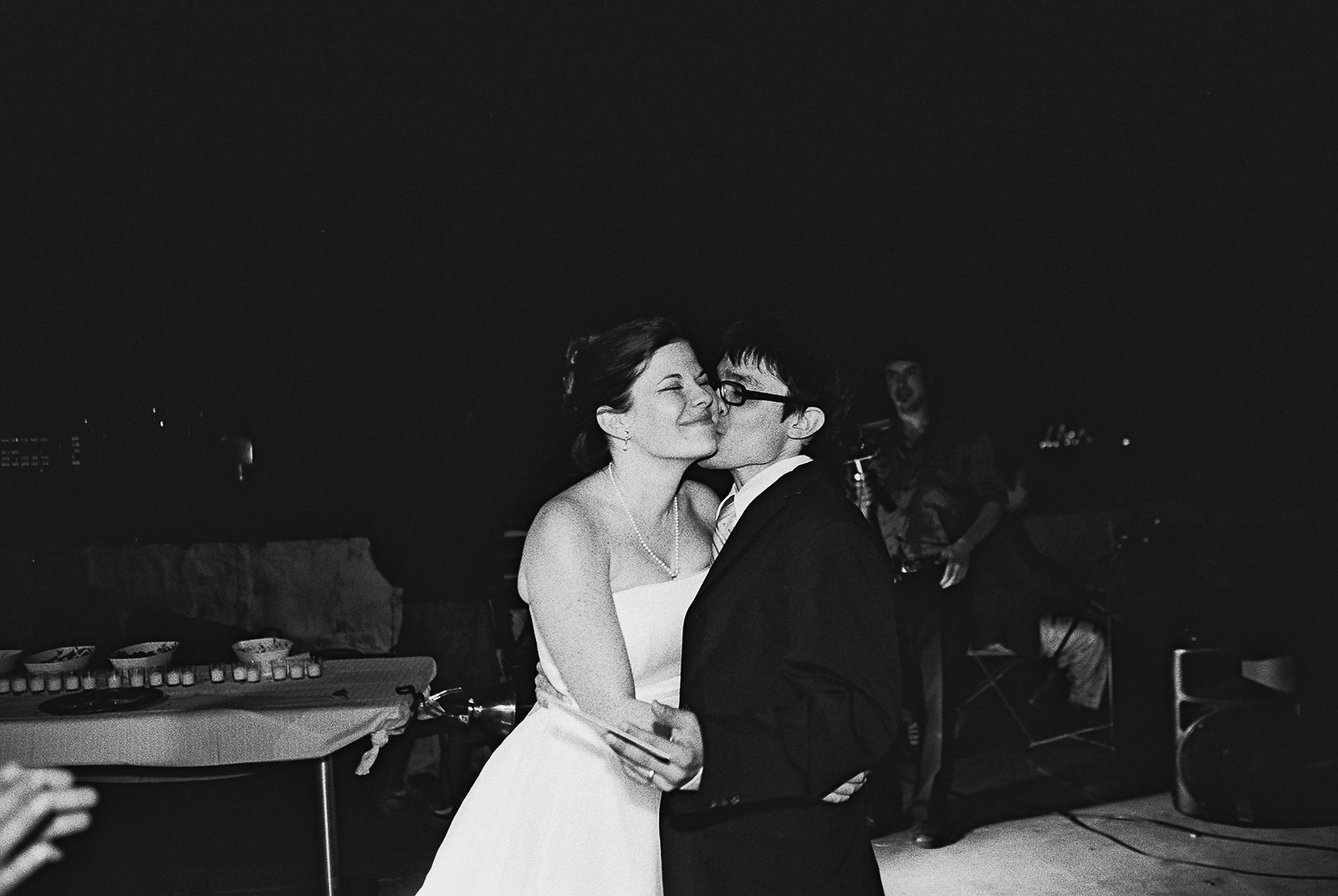 bride and groom first dance office ops