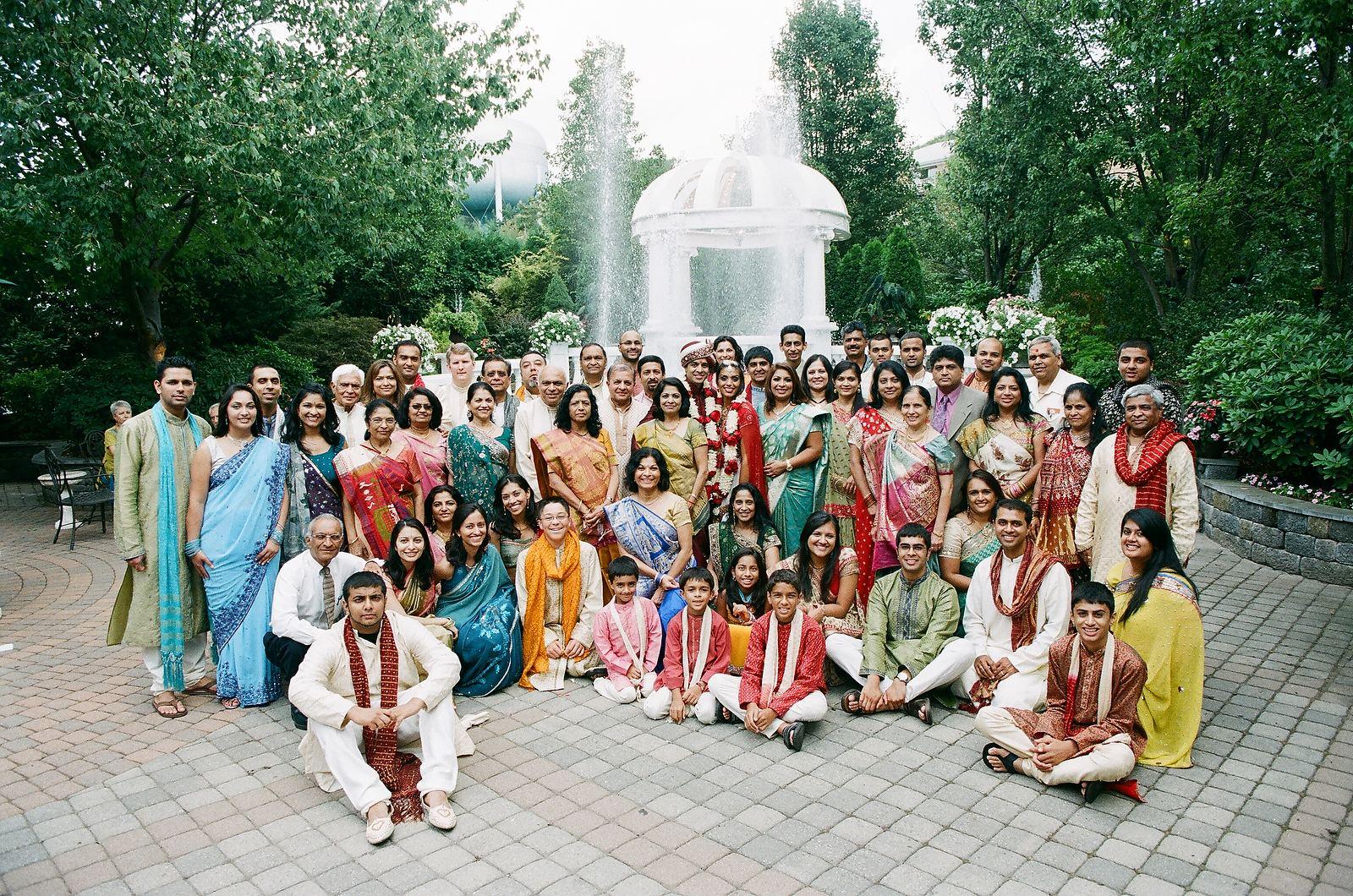 big indian wedding group photo
