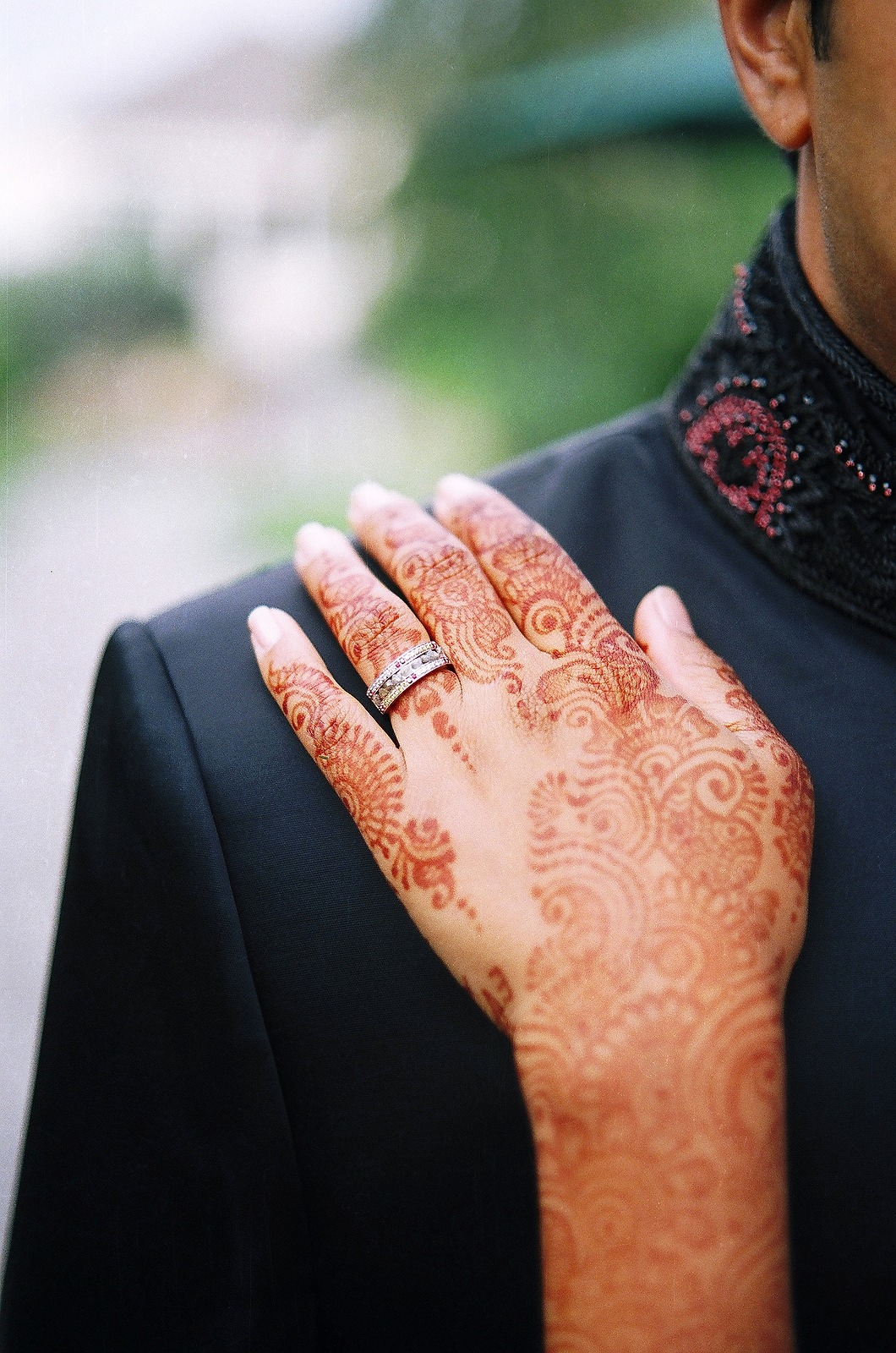 henna tatto on bride by wendy g photography