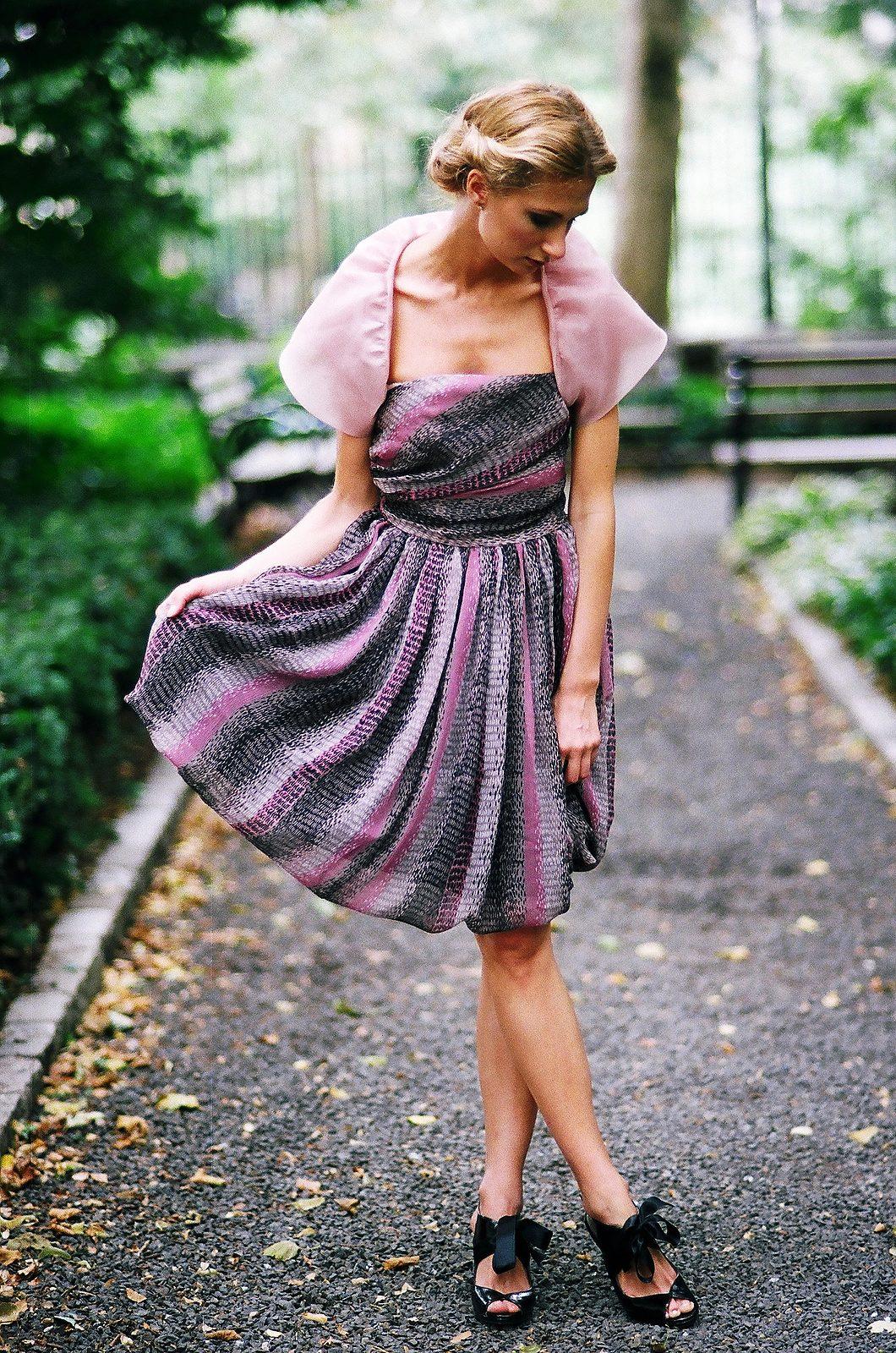 bridal fashion for bridesmaid short print dress pink bolero