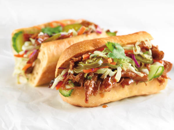Spicy Asian Pork Hot Toasted Sandwich