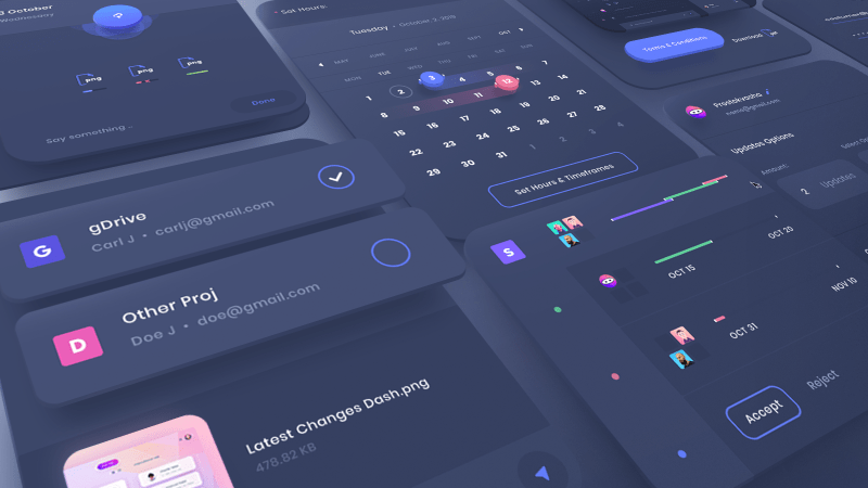 UI Dashboard design by uixninja
