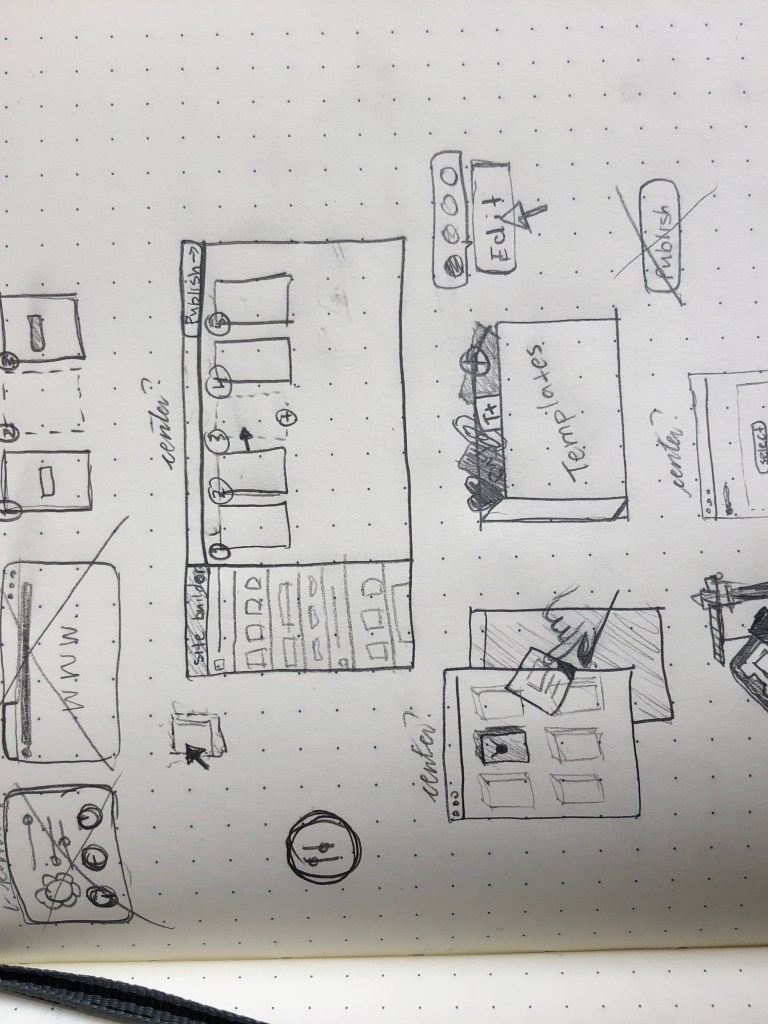 Sketches for Site Builder Illustration