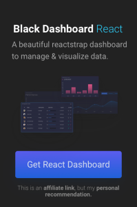 React Dashboard kit