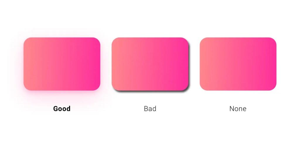UI Design Soft Shadow